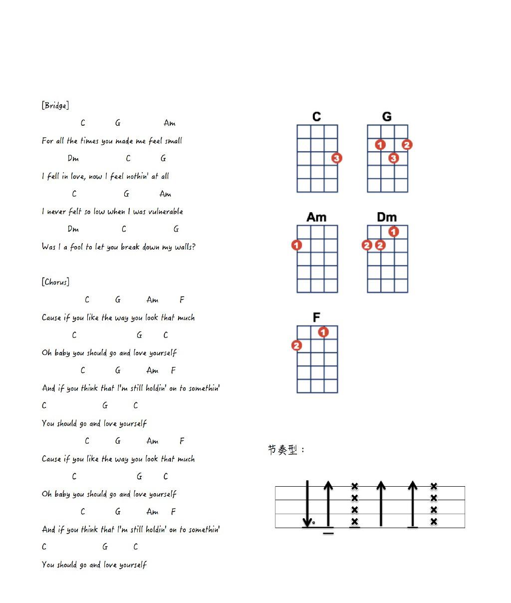 how to love chords ukulele